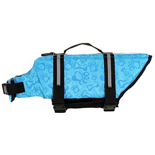 Eizur Hunde Schwimmweste Reflektierend Einstellbar Rettungsweste Hundeweste Retter Schwimmhilfe Warnweste Quick Release per Haustier Sicherheit & Ausbildung Größe XS - Blau