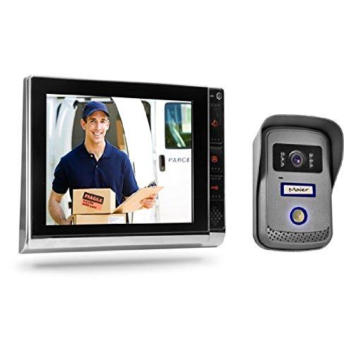 Türsprechanlage TSA4 schwarz/chrom - Komplett-Set mit Aufzeichnung/Speicher-Funktion - Video Gegensprechanlage