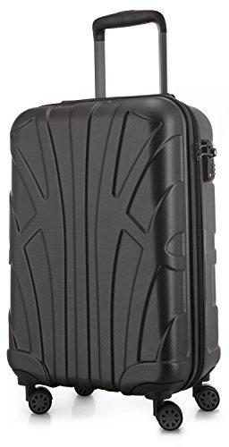 SUITLINE - Handgepäck Hartschalen-Koffer Koffer Trolley Rollkoffer Reisekoffer, TSA, 56 cm, 35 Liter, Graphite