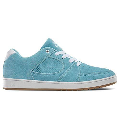 Es Accel Slim Brown/Gum Shoes, Blau - hellblau - Größe: 44 EU - Skate Schuh Größe Größe