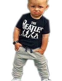 para la ropa del bebé,RETUROM Muchacho fresco 1 Set cabritos del niño del bebé camiseta tops + pantalones largos pantalones Trajes Ropa