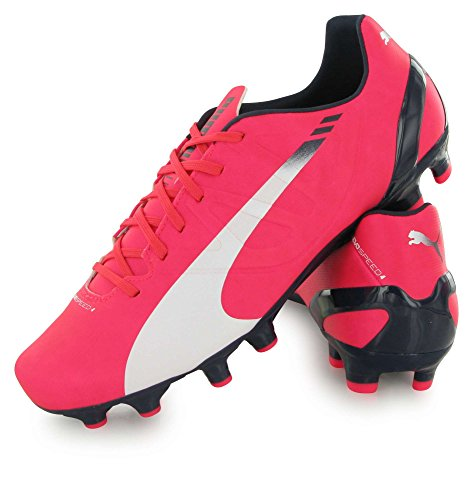 Puma evoSPEED 4.3 FG Jr Unisex-Kinder Fußballschuhe Pink