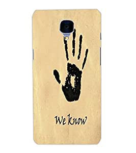 ONE PLUS 3 WE KNOW Back Cover by PRINTSWAG