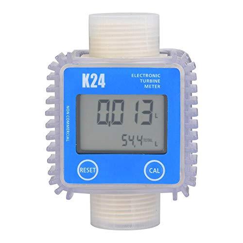 Durchflussmesser, K24 digitaler Durchflussmesser chemischer Durchflussmesser mit LCD-Anzeige, für Turbine, Harnstoff, Kerosin, Benzin,Erdöl, Chemie, Medizin usw,1