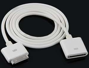 Rallonge Câble USB Blanc 30 Broches Mâle Femelle Pour iPhone 3GS 4 4s iPod Touch