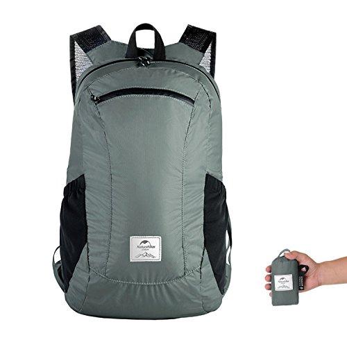 Topnaca 18l leggero Packable durevole zaino da viaggio zaino da escursionismo, impermeabile durevole pratico pieghevole per ideale per sport all' aperto, arrampicata, campeggio Backpacking ciclismo, U Grey