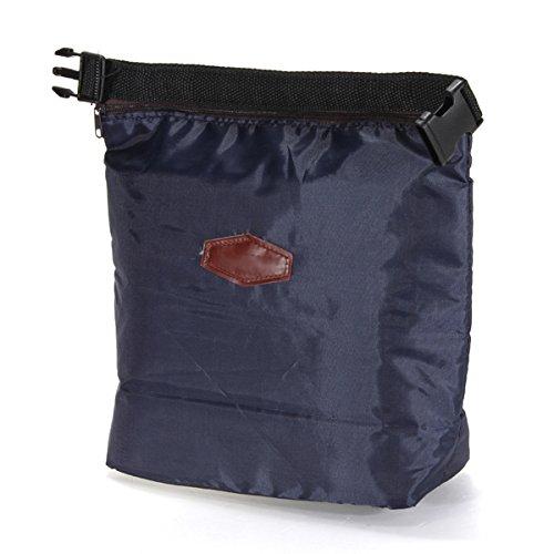 Azul marino R SODIAL Nevera portatil Box Lunch impermeable portatil termica de almacenamiento de la comida campestre bolsa bolsa