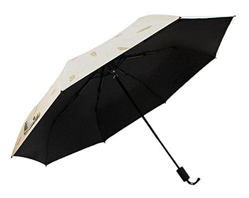 Black Temptation Parapluies pliants Parapluie de Voyage pour Protection UV