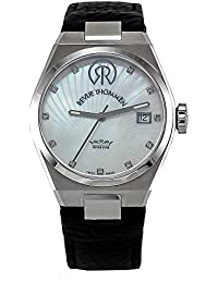 Revue Thommen Urban - Lifestyle Women's Automatic Watch with Silver Dial Analogue Display and Black Leather Strap 108.01.07