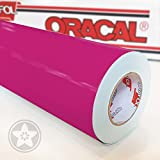 hauptsachebeklebt Klebefolie Oracal 621 Folien Set 041 - Pink - 5m x 61,5cm - Orafol - Möbelfolie - Plotterfolie - Selbstklebend (Folien Set inkl. Weichem Filzkantenrakel)