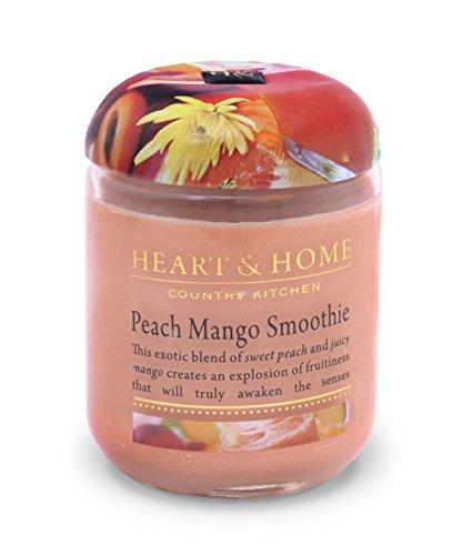 Heart & Home Duftkerze im Glas, Pfirsich-Mango-Smoothie, klein