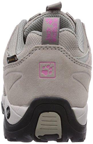 Jack Wolfskin  VOJO HIKE TEXAPORE WOMEN, Chaussures de randonnée femme Gris (Pink Hortensia 2079)