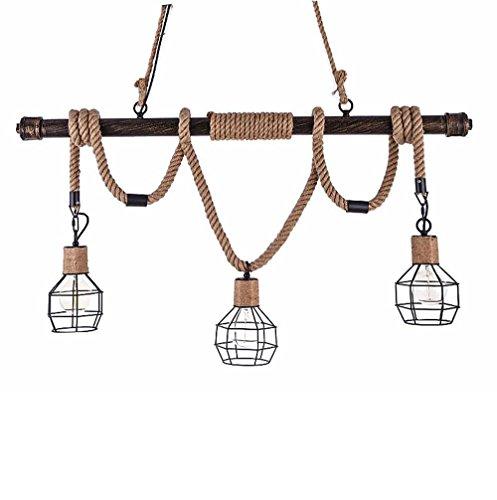 Murano Anhänger Beleuchtung (WanDun North American Wind Rohre Vintage Nostalgie Seil Kronleuchter Creative Industries Bar Galerie Cafe Beleuchtung)