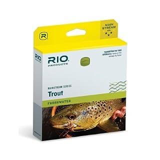 RIO Products Fliegenschnur Mainstream Aqualux Intermediumiate Wf7I, transparent