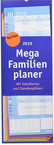 Mega Familienplaner Basic - Kalender 2019