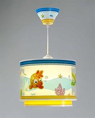 Aquarium Hängeleuchte 60332 Clown Fisch Seepferdchen Schildkröte Lampe Kinderzimmer Leuchte Kinderzimmerlampe