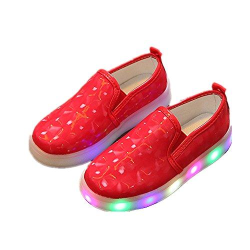 Kinderschuhe, Chickwin Baby LED Kinderschuhe Mädchen Weich Und Bequem Rutschfest Bunte LED-Leuchten Schuhe Lässige Schuhe Flashing Schuhe (25 / Maß Innen (cm) 15.1, (Kostüm Einfach Olive Eine)