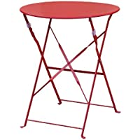 Bolero gh560Stahl Tisch Stil, 710mm x 595mm, Garden Restaurant Heftung, rot
