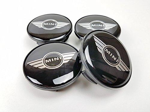4x Nabenkappen, für Mini Cooper, mit Flügel-Design, Logo, Legierung, 54mm, 36131171069