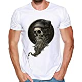 Wawer T-Shirt - Manches Courtes -Homme Chemisier Skull 3D Impression T-Shirts Col...