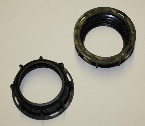 Offene IBC Hahn-Kappe DN50 S60x6 in schwarz ohne Inlay