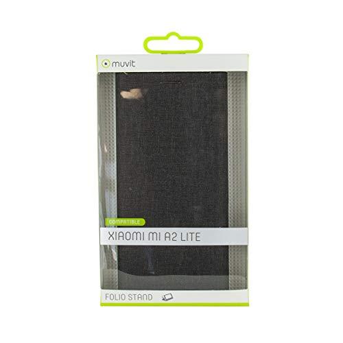 Muvit Folio - Funda para Xiaomi Mi A2 Lite (función Soporte y Tarjetero) Color Negro
