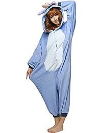 Tier Onesie Pyjama Blau Stich Kostüme Kigurumi Schlafanzug Erwachsene Unisex Tieroutfit tierkostüme Jumpsuit (XL(für Höhe 180-188cm))