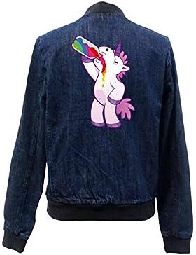 Drinking Unicorn Bomber Chaqueta Girls Jeans Certified Freak