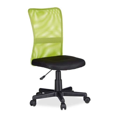 Relaxdays, höhenverstellbarer Kinder Drehstuhl, ergonomisch, 90 kg belastbar, HxBxT: 102 x 55 x 55 cm, grün Bürostuhl, 55 x 55 x 102 cm 6,44 Kg
