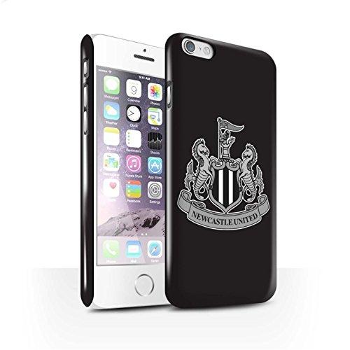 Offiziell Newcastle United FC Hülle / Glanz Snap-On Case für Apple iPhone X/10 / Mono/Blau Muster / NUFC Fußball Crest Kollektion Mono/Schwarz