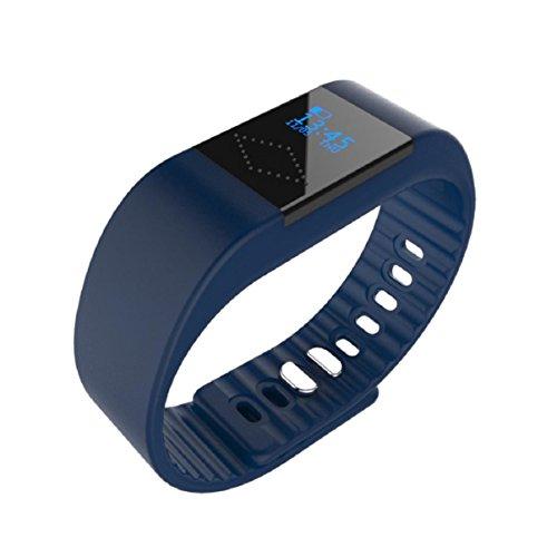 OverDose M1 Bluetooth Smart Armband Uhr Sport Gesunde Pedometer Schlaf Monitor -Unterstützte Modelle: Für iPhone 4S / 5 / 5C / 5S / 6 / 6P IOS7.1 oben, Android 4.4 und höher (Marine) M1-marine