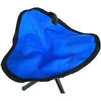 Shuzhen,Silla Plegable de triángulo para Acampar al Aire Libre/Picnic / Senderismo/Pesca(Color:Azul)