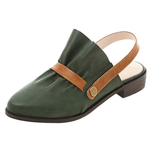 YU'TING ☀‿☀ Donna Posteriore Menorcan Sling Peep Toe Infradito Estate Autunno Sandali Scarpe Sandali con Cinturino alla Caviglia Donna
