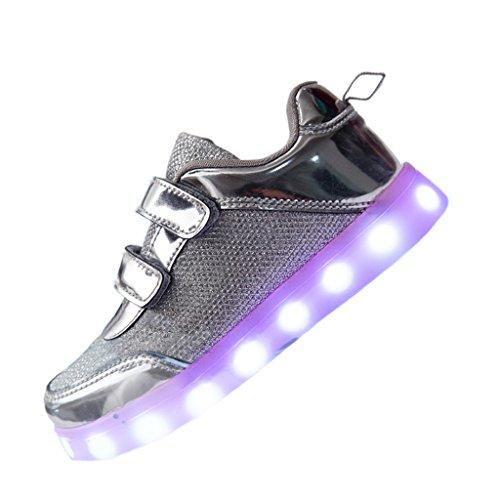 DoGeek LED Schuhe Kinder Damen 7 Farbe USB Aufladen Leuchtend ...