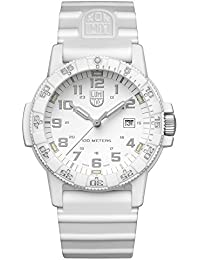 Luminox Leatherback Sea Turtle Giant 0320 series Watch with carbon compound Case White|Silver Dial and Silicon White Strap XS.0327.WO