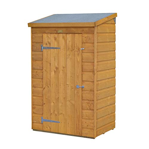 418tpzyOIpL. SS500  - Mini Wooden Store Small Outside Storage Unit with Shiplap Cladding
