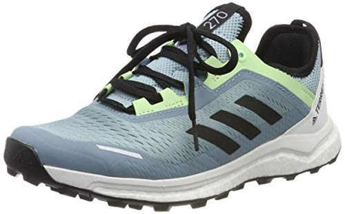 adidas Terrex Agravic Flow W, Zapatillas de Cross para Mujer, Gris (Ash Grey S18/Core Black/Glow Green Ash Grey S18/Core Black/Glow Green), 42 EU