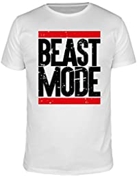 FabTee Beast Mode Run - Fitness Men T-Shirt - Size S-3XL
