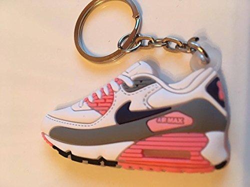 Preisvergleich Produktbild Nike Air Max Schlüsselanhänger Grau-Pink Sneaker Keychain Rosa