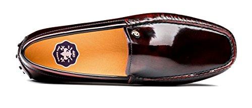 OPP Scarpe da Uomo Flats Vera Pelle Loafer Scarpe Rosso