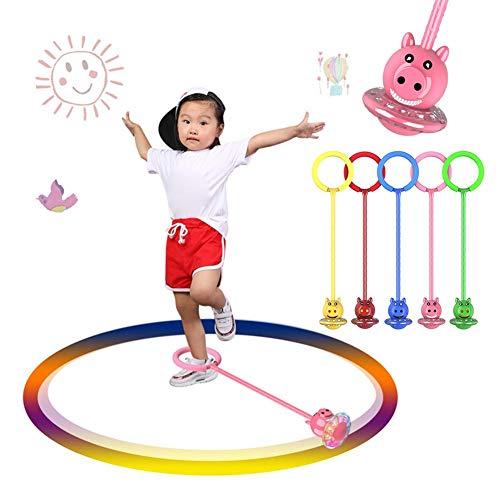 überspringen Ball springseile Sport schwingen Hyun Dance Flash Kids übung koordination Balance Hoop Spielzeug verbessert knöchel einbeiniger springring für Jungen und mädchen Fitness bälle Kinder