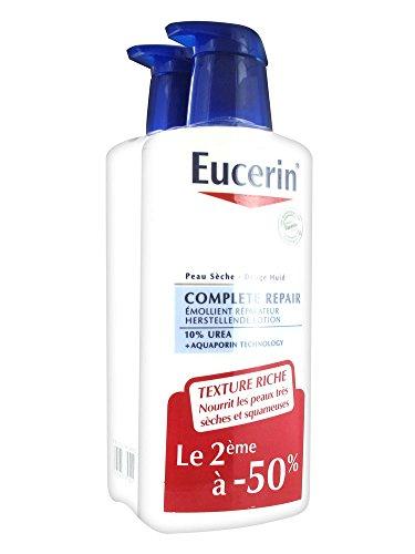 Eucerin Complete Repair Emollient Réparateur 10% Urée Lot de 2 x 400 ml