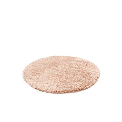 HomeMiYN Alfombra Redonda Color sólido Super Suave para el hogar, alfombras de Varios tamaños, Almohadillas para el Suelo para Sala de Estar o Dormitorio, marrón Claro, Diameter:3.3ft