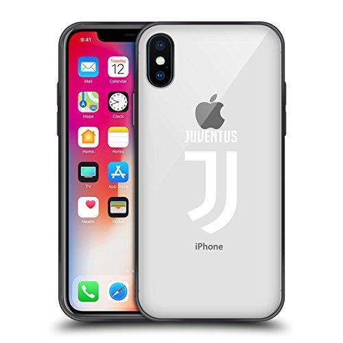 Ufficiale juventus football club semplice design vari skinny fit hybrid clear case per iphone x/iphone xs