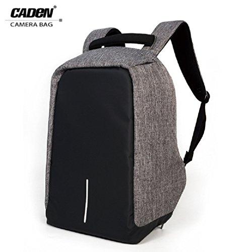Preisvergleich Produktbild Caden 15.6 Slim Laptop Rucksack für Männer Frauen Business Wasser Resistant Schulter Notebook Reisetasche Lightweight