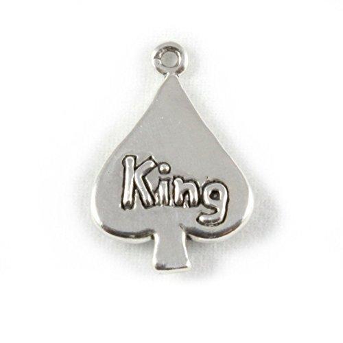 Plata esterlina del encanto del rey de espadas