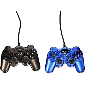 Sabrent Pack von zwei twelve-button Controller für PC, Blau (usb-gamekit)