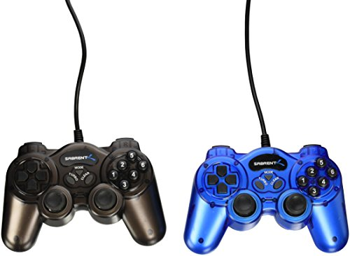 Sabrent PC Twelve-Button USB 2.0 Game Controllers (USB Gamekit - Pack of 12)