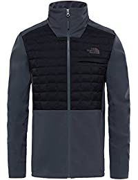 The North Face M Parkwood Thermoball Hybrid Chaqueta, Hombre, Gris (Asphltgr/Tnfblk), L