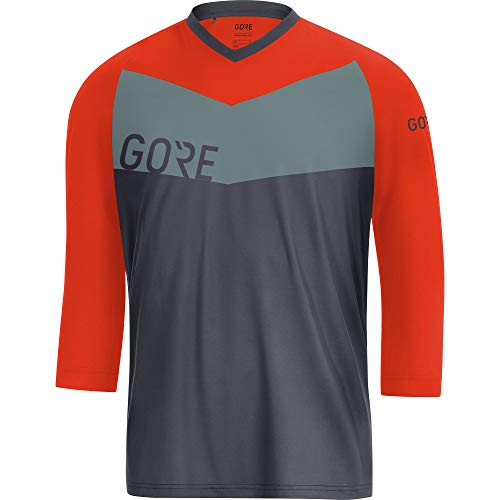 GORE WEAR Gore C5 All Mountain 3/4 Maillot Homme, Terra Grey/Orange.COM, FR : 2XL (Taille Fabricant...